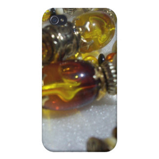 Glass Beads Cover For iPhone 4