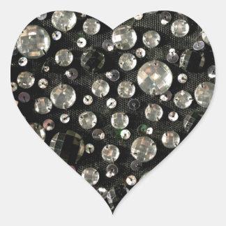 Glass Beads & Sequins Heart Sticker