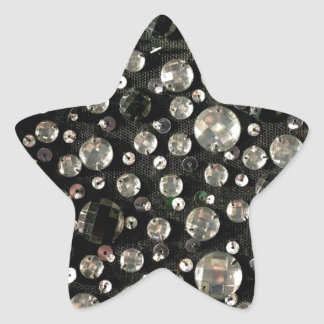 Glass Beads & Sequins Star Sticker