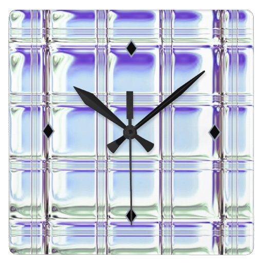 Glass block digital art on sleek acrylic clock zazzle for Acrylic glass block