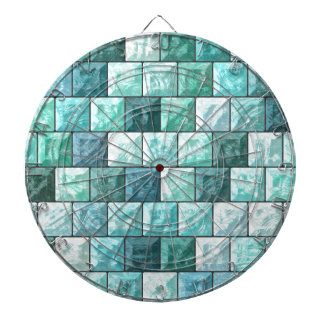 Glass blocks texture dartboard