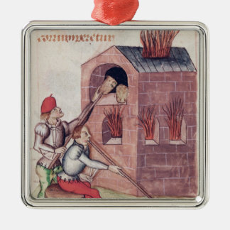 Glass blowers, from 'Tractatus de Herbis' Christmas Ornament