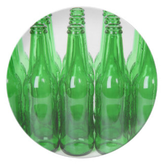 Glass bottles party plate