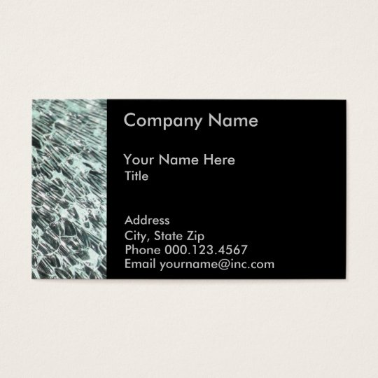 Glass Business Card Template