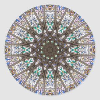 Glass Cathedral Medieval Builders Seven Round Sticker