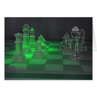 Glass Chess Pieces Card