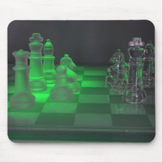 Glass Chess Pieces Mouse Mat