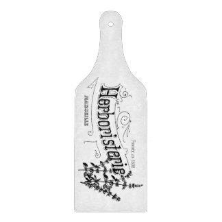 Glass chopping board paddle  French Script Motif