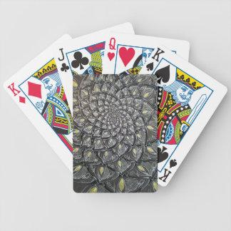 Glass Chrysanthemum Psychedelic Mandala Poker Deck