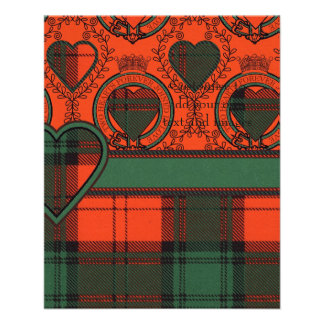 Glass clan Plaid Scottish kilt tartan 11.5 Cm X 14 Cm Flyer