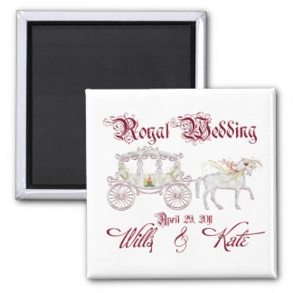 Glass Coach Commemorate the Royal Wedding Square Magnet