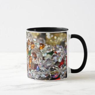 Glass Coloured Beads Mug