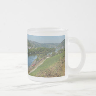 Glass cup central Rhine Valley with Lorch Frosted Glass Mug
