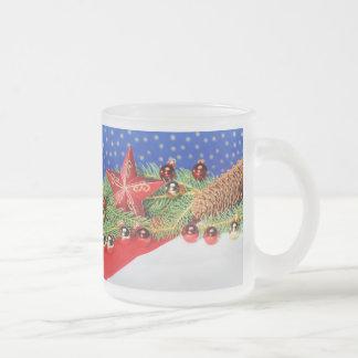 Glass cup glad Christmas