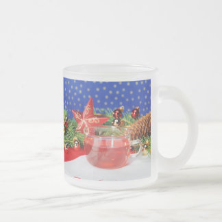 Glass cup of Christmas