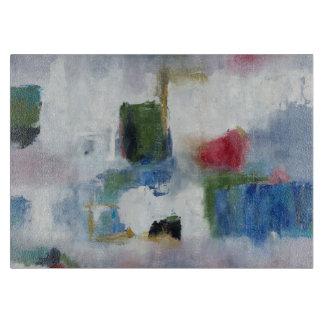 """Glass cutting board 11""""x8"""" original art"""