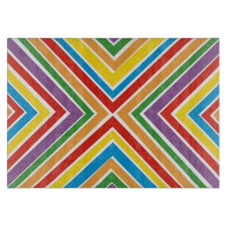 Glass Cutting Board Bullseye Rainbow