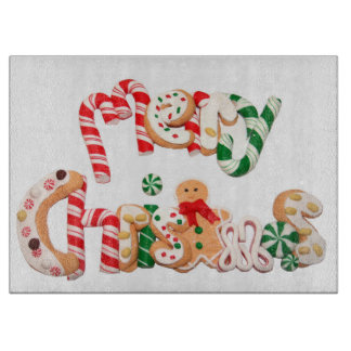 Glass Cutting Board/Christmas Cutting Boards