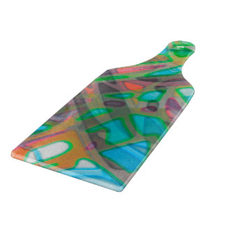Glass Cutting Board Colorful Stained Glass