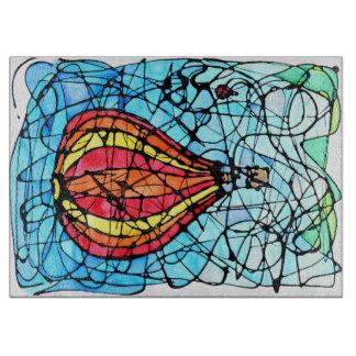Glass Cutting Boards - Festival in Flight