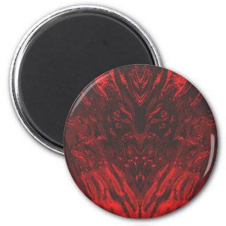 GLASS DEMON 6 CM ROUND MAGNET