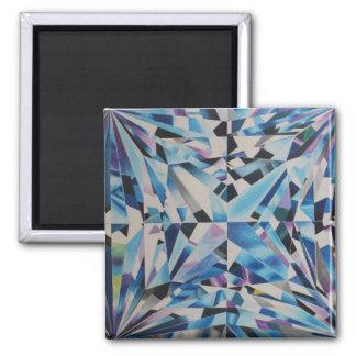 Glass Diamond 2 Inch Square Magnet