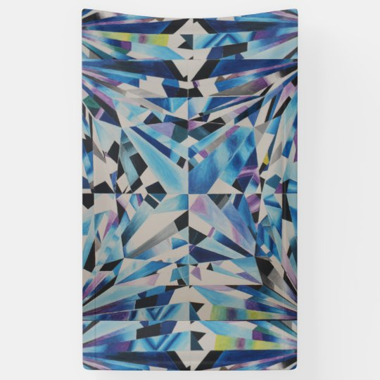 Glass Diamond 3' x 5' Banner