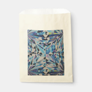 Glass Diamond Ecru Favor Bag