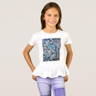 Glass Diamond Girls' Ruffle T-Shirt