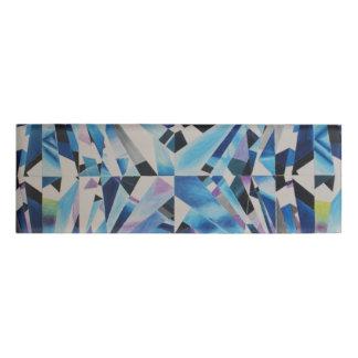 Glass Diamond Small Rectangle Name Tag