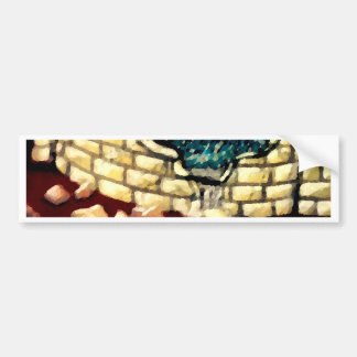 """Glass Dragon Hole in the Wall  CricketDiane Art Bumper Sticker"