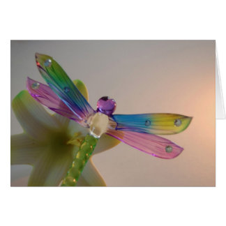 Glass Dragonfly Greeting Card