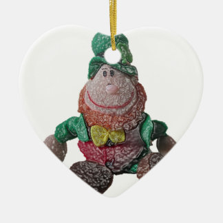 Glass Effect Leprechaun Christmas Ornament