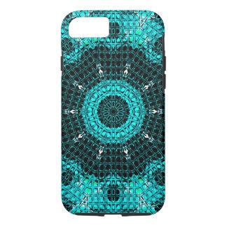 Glass Effect Mosaic Aquamarine iPhone 7 Case