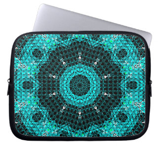 Glass Effect Mosaic Aquamarine Laptop Sleeve