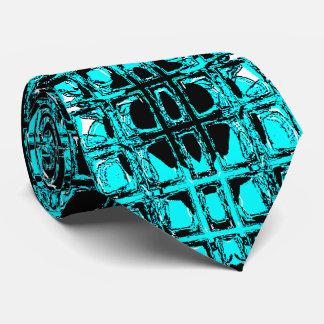 Glass Effect Mosaic Aquamarine Tie