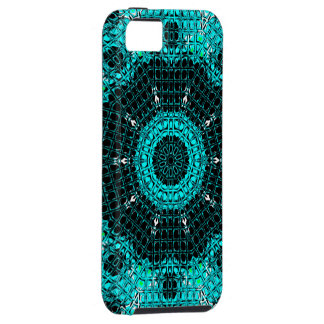 Glass Effect Mosaic Aquamarine Tough iPhone 5 Case