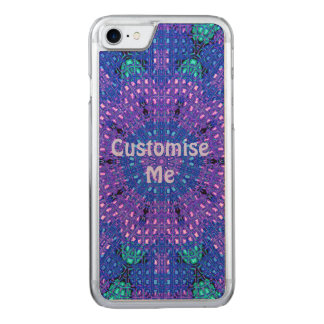 Glass Effect Mosaic Purple/Blue Carved iPhone 7 Case