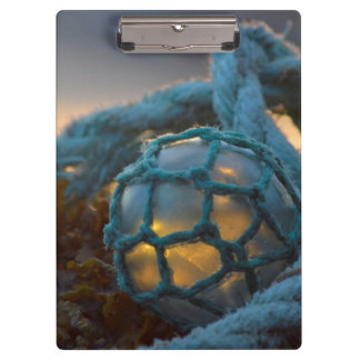 Glass fishing float, Sunset, Alaska Clipboard