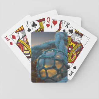 Glass fishing float, Sunset, Alaska Poker Deck