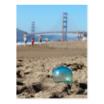 Glass float at Baker's Beach Post Cards