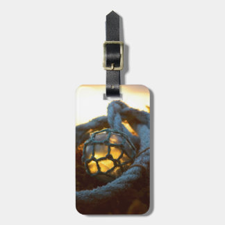 Glass float glows at sunset, Alaska Luggage Tag