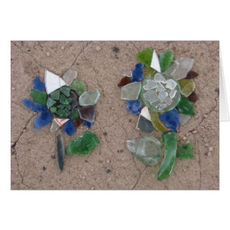 Glass flowers card