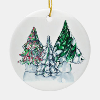 Glass Forest Ornament