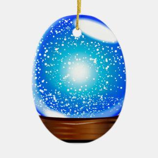 Glass Globe Smow Storm Christmas Ornament
