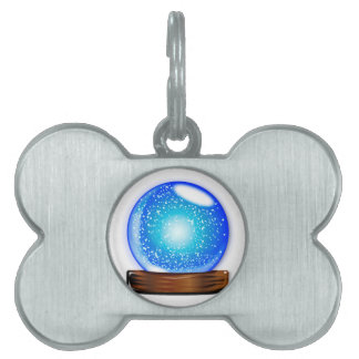 Glass Globe Smow Storm Pet Tag