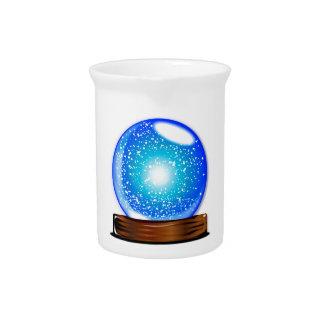 Glass Globe Smow Storm Pitcher