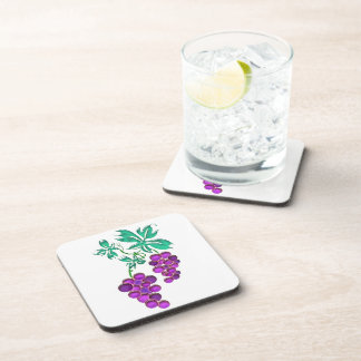 Glass Grapes Drink Coaster
