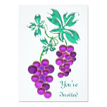 Glass Grapes Personalized Announcements