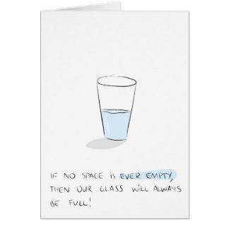 Glass Half Full Greeting Card